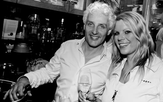 Remigio Poletto und Kolumnistin Gila Thieleke, Foto: Christoph Kurze