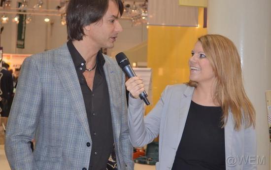 Moderatorin Gila Thieleke mit Model Marcus Schenkenberg, Foto: Werner Emmerich