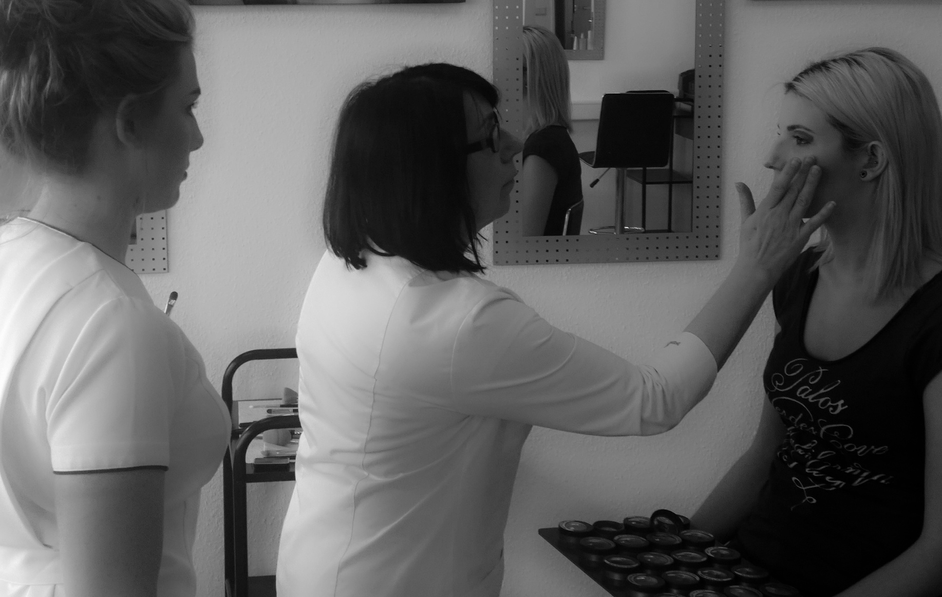 Trainerin Brigitte Ratzke mit ihren Schützlingen, Foto: Heidi Jerratsch