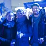Reeperbahn Festival Hamburg 2015: Claudia, Maria und Matthias am Spielbudenplatz, Foto: Marie-Theres Müller