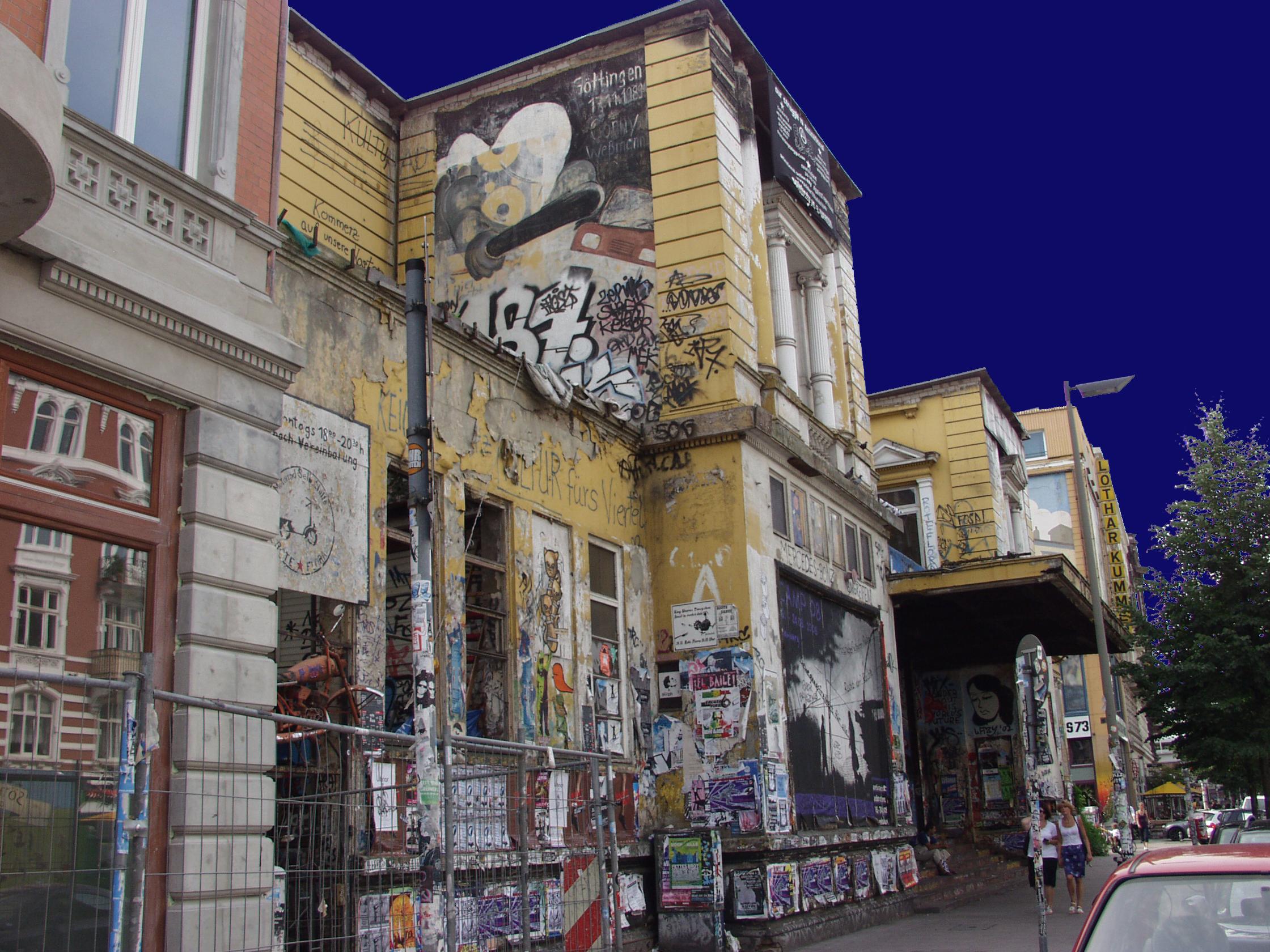 Schanzenviertel, Rote Flora, Hamburg, Kulturzentrum