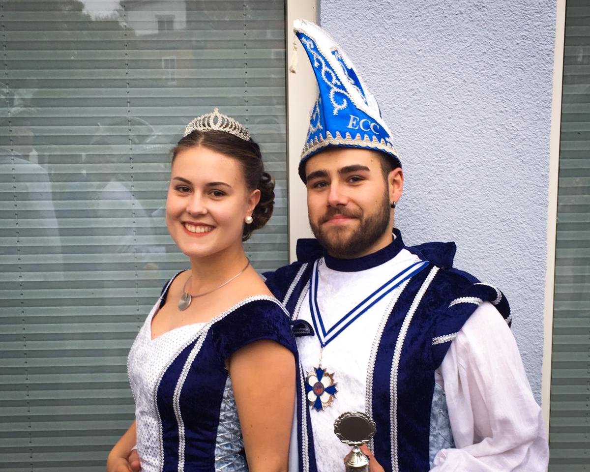 Prinzenpaar Proklamation ECC Eggersdorf Prinzessin Sissi und Prinz Kevin, Foto: Kevin Knickmeier