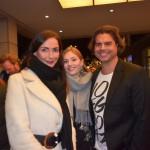 Movie meets Media: Agentin Julia Lucassen mit Schauspielerin Theresa Wind und Ray Watts, Foto: Werner Emmerich